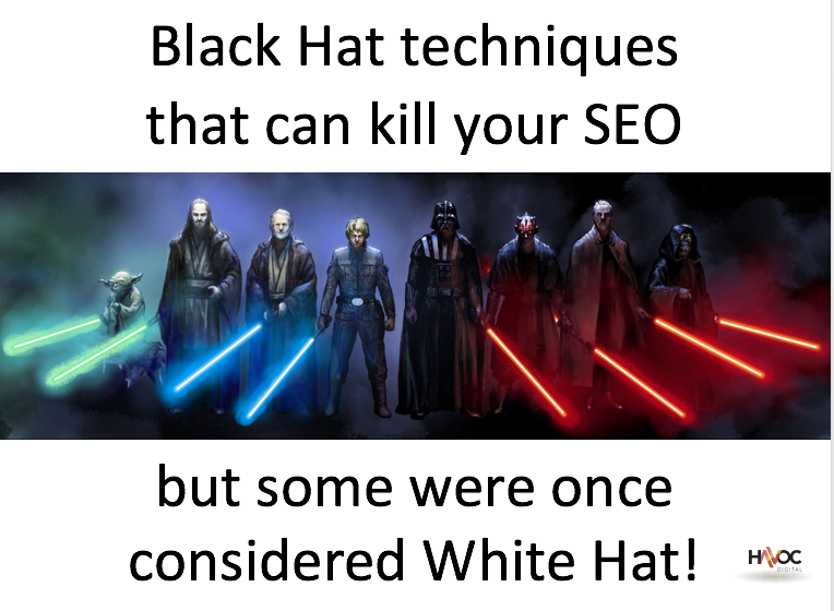 Black Hat SEO Techniques that can Kill your SEO
