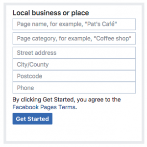 Facebook Local Business Page